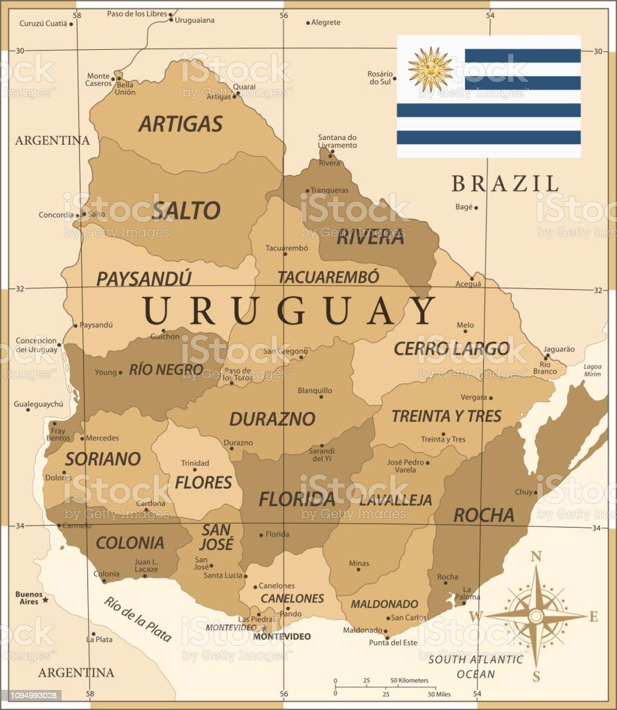 25 -Uruguay - Vintage Golden 10