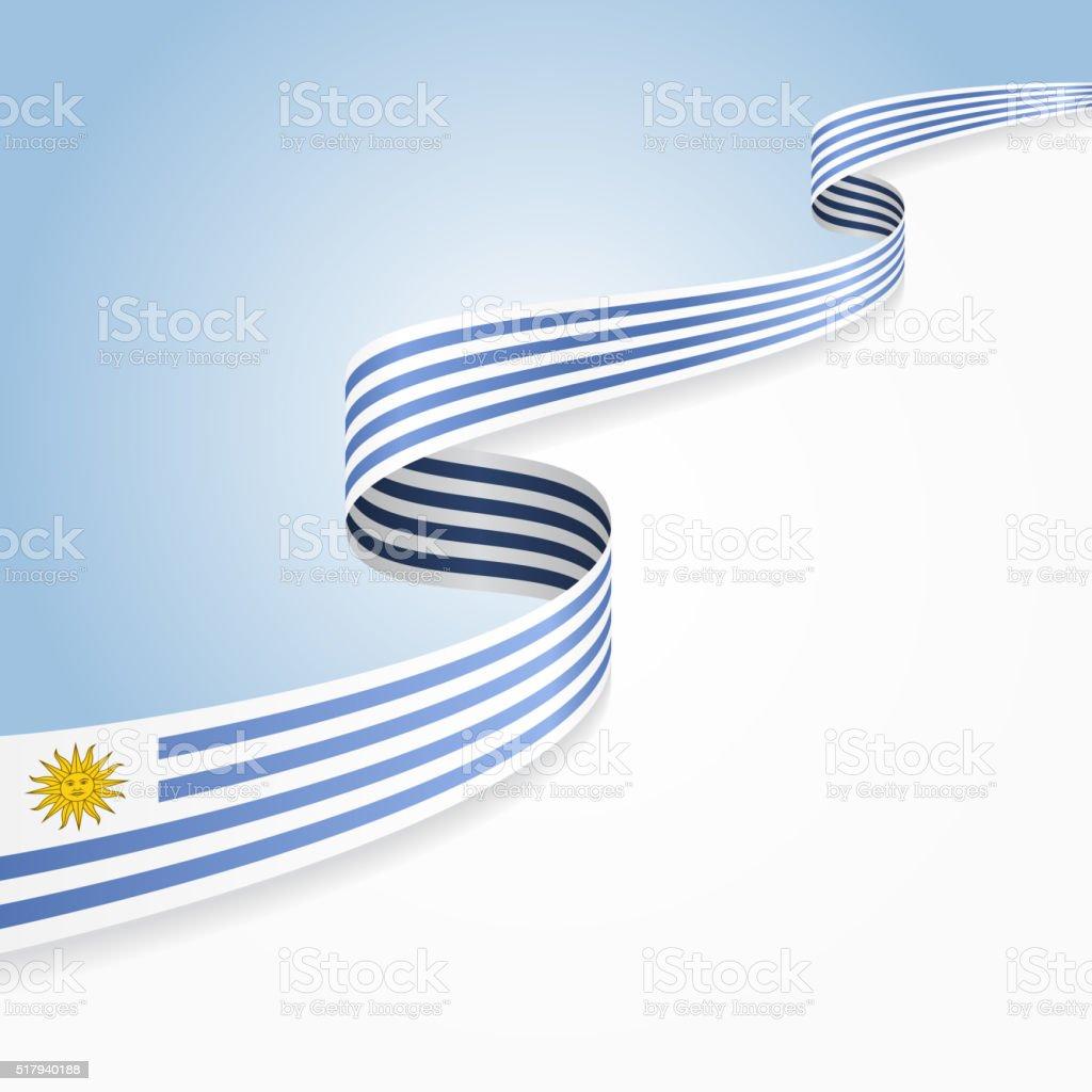 Uruguayo bandera fondo. Ilustración vectorial - ilustración de arte vectorial