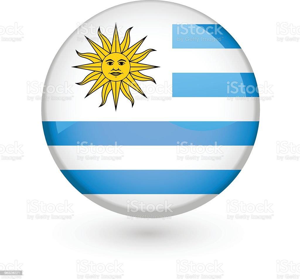 Uruguayan flag vector button royalty-free uruguayan flag vector button stock vector art & more images of badge