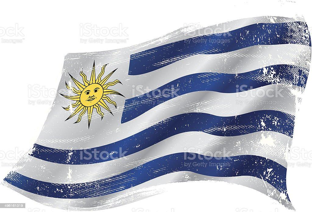Uruguayo grunge de bandera - ilustración de arte vectorial