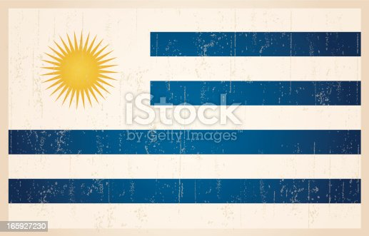 istock Uruguayan grunge vintage flag 165927230