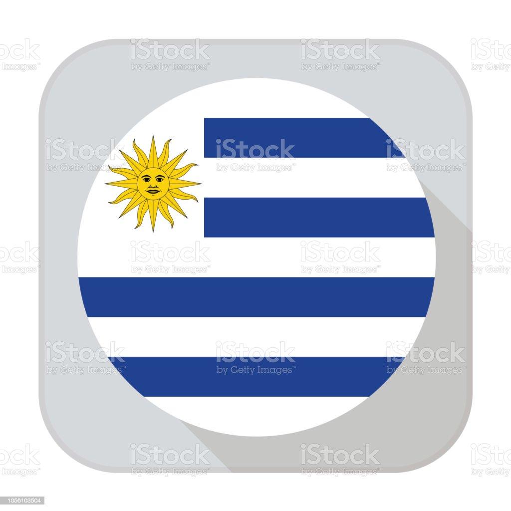 Bandera de Uruguy - ilustración de arte vectorial