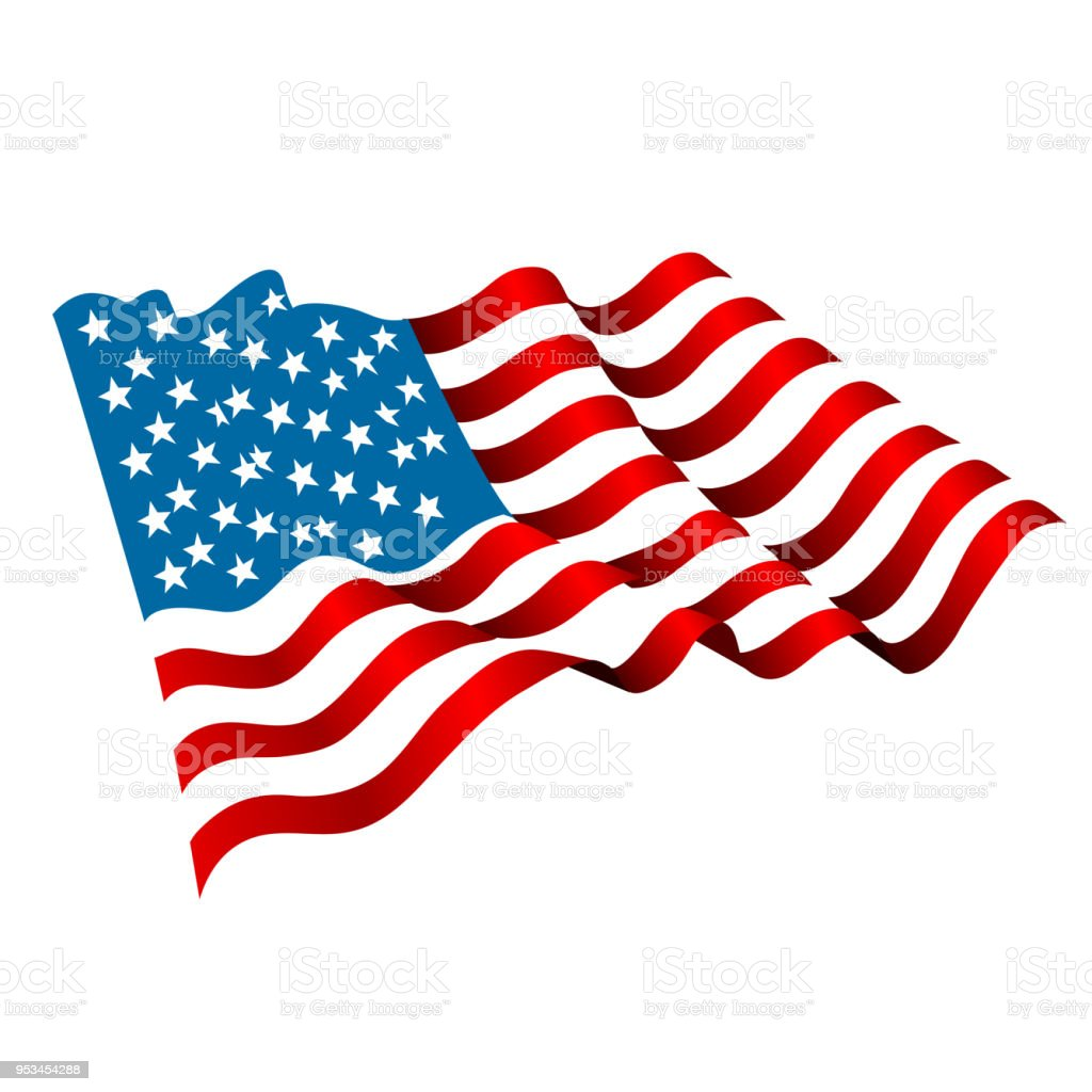 Us flag Icon vector art illustration