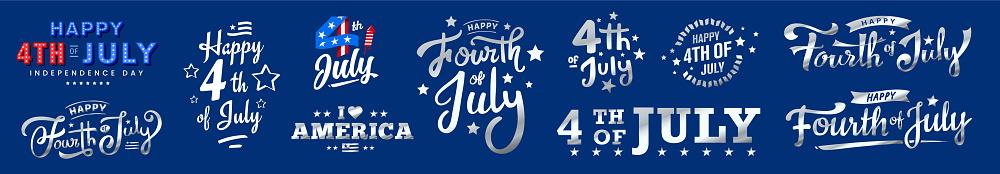 usa, 4th of July sale, discount icon, monogram design on dark blue background.