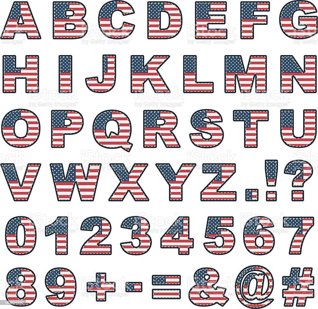 usa alphabet royalty-free usa alphabet stock vector art & more images of alphabet