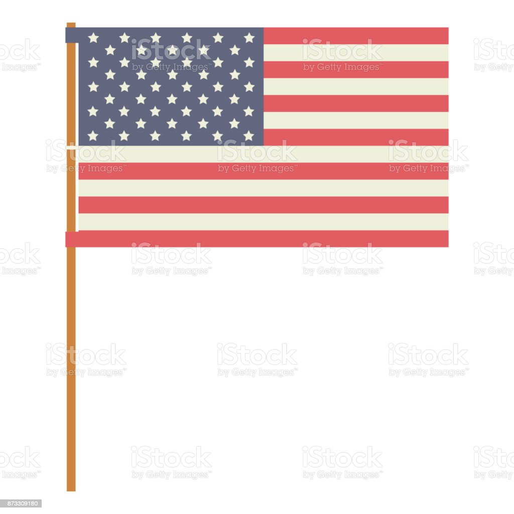 flag usa and Labor day icon. Patriotism Party festival and national...