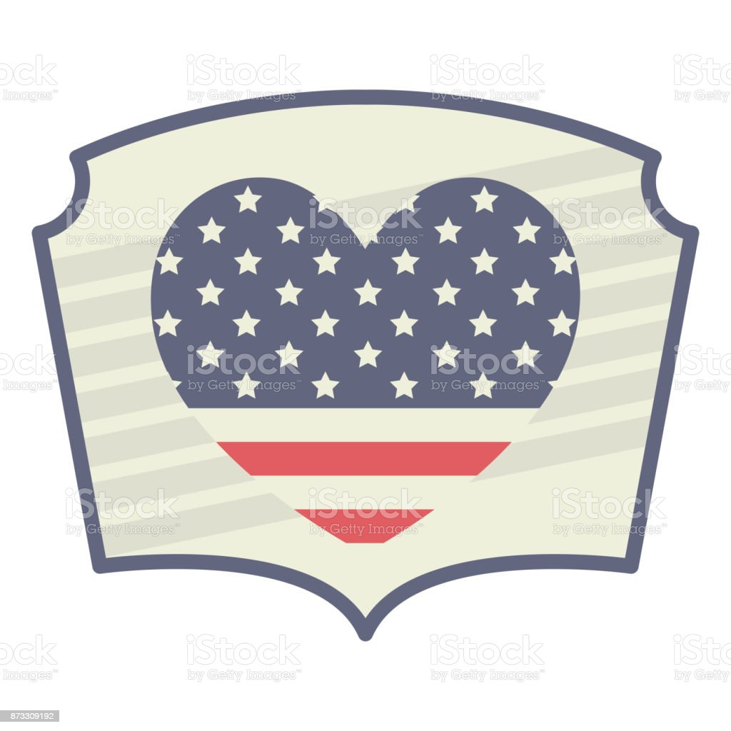 heart usa and Labor day icon. Patriotism Party festival and national...