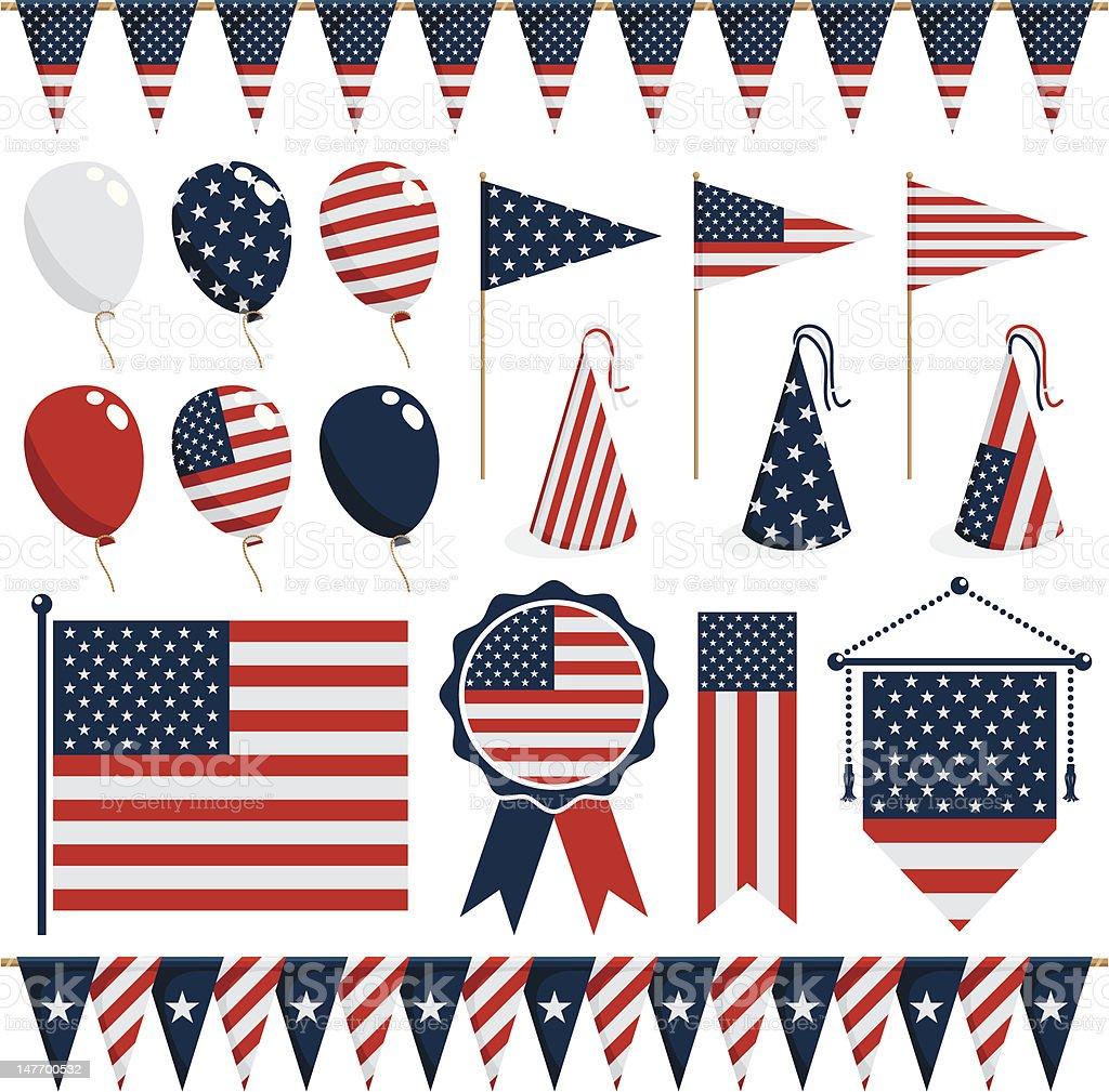 Decoración de los Estados Unidos - ilustración de arte vectorial