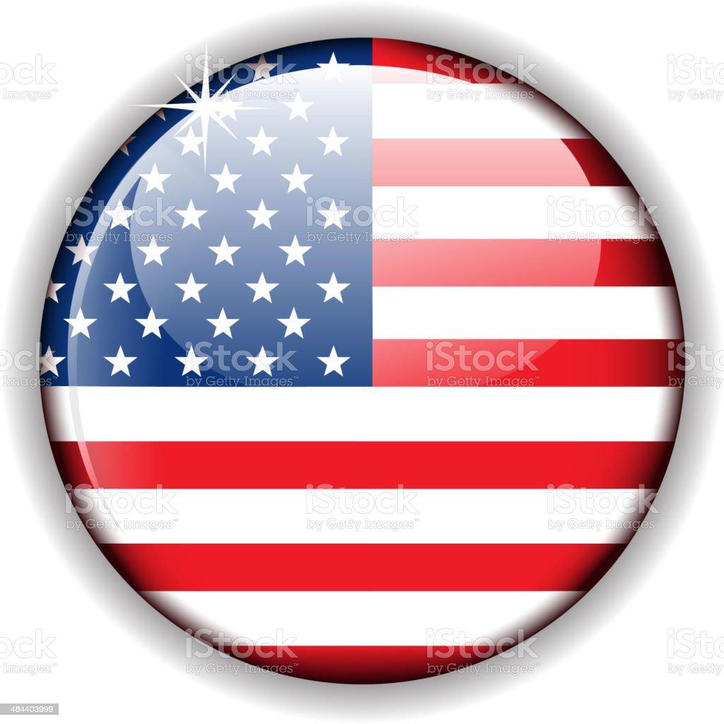 usa flagge button stock vektor art und mehr bilder von 4 juli 484403999 istock. Black Bedroom Furniture Sets. Home Design Ideas