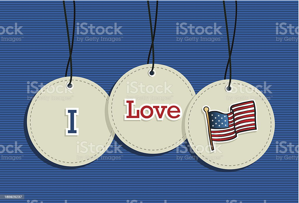 Usa flag patriotic hanging labels symbols elements set vector file. royalty-free usa flag patriotic hanging labels symbols elements set vector file stock vector art & more images of american culture