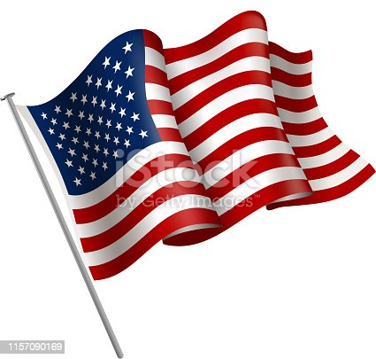 drawing of vector American flag sign. Created by illustrator cs6. This file of transparent.