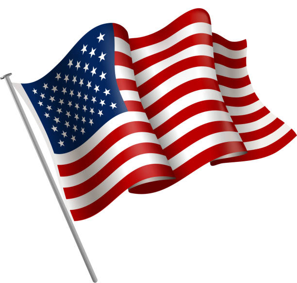usa flag sign - american flag stock illustrations
