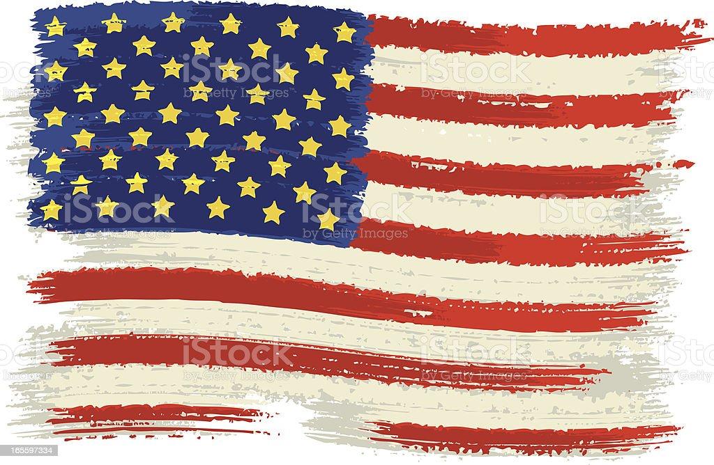 EUA, bandeira ilustração de eua bandeira e mais banco de imagens de antigo royalty-free
