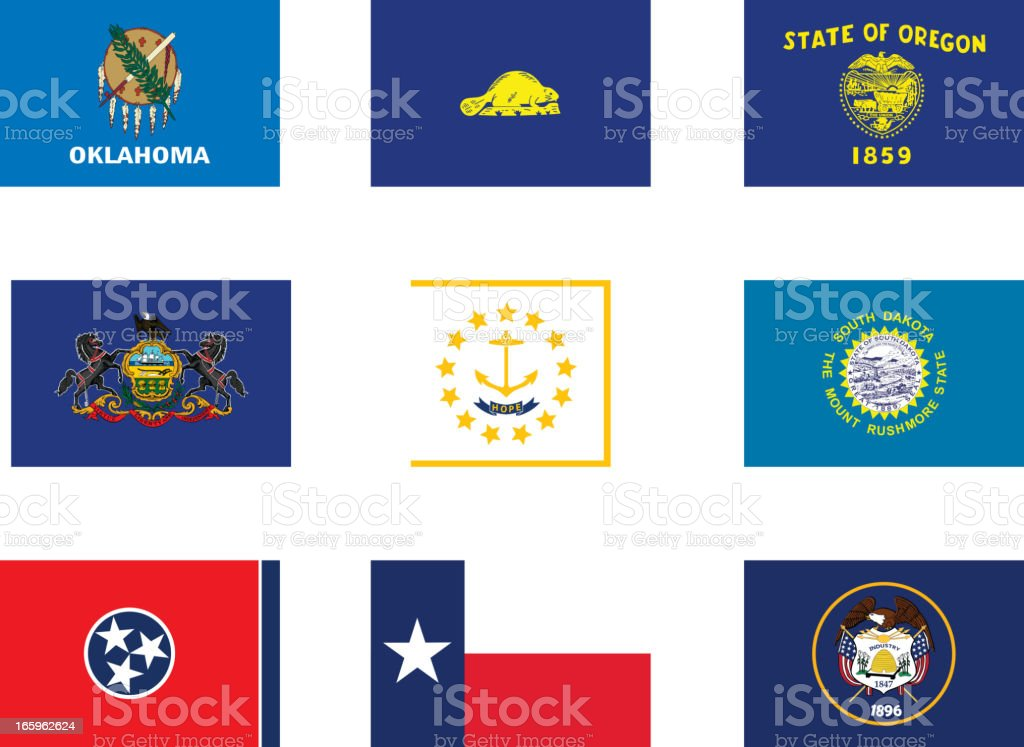 Usa flags-part 5 royalty-free stock vector art