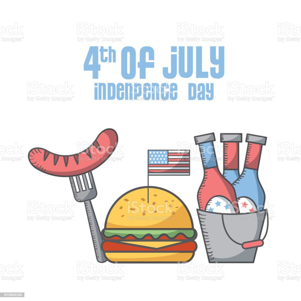 usa Indepence day design vector art illustration