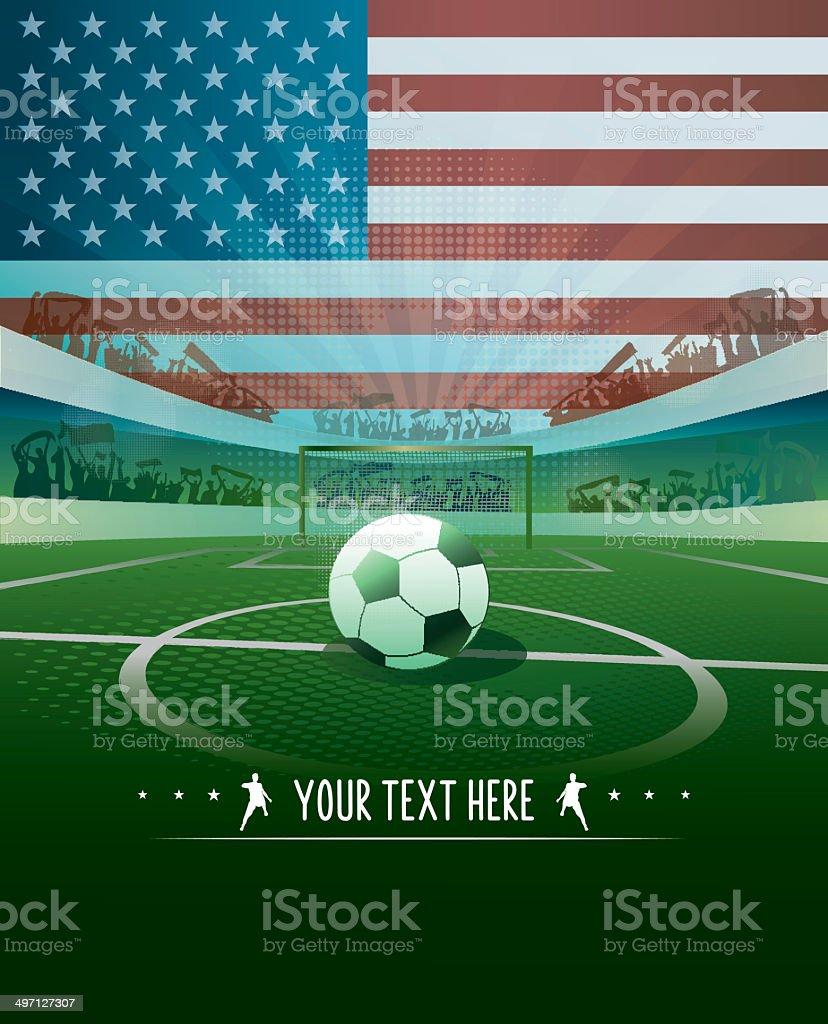usa soccer background vector art illustration