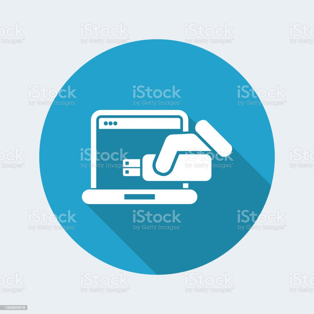 Usb Computer Icon Stock Vector Art More Images Of Bus 1050820318 Diagram Royalty Free Amp