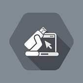 Usb computer icon