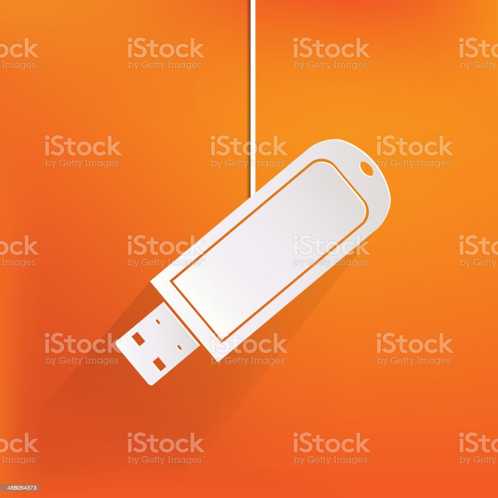 Usb flash drivo web icon vector art illustration