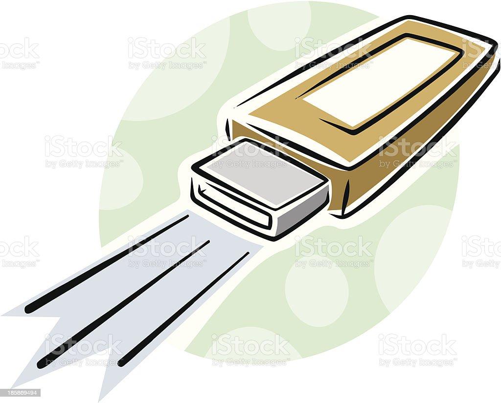Usb memory stick royalty-free stock vector art