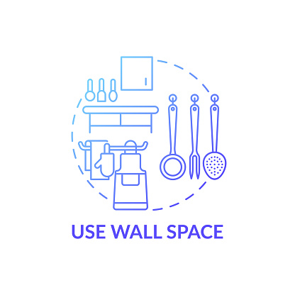Use wall space blue gradient concept icon