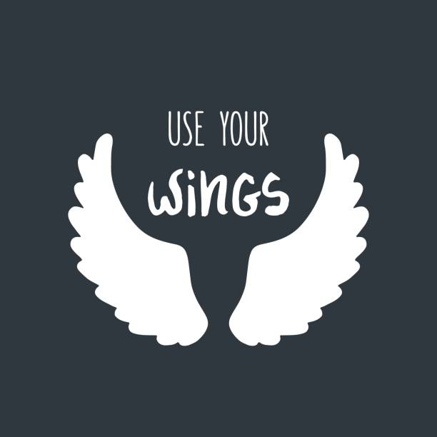 Best Angel Wing Quotes Illustrations, Royalty-Free Vector ...