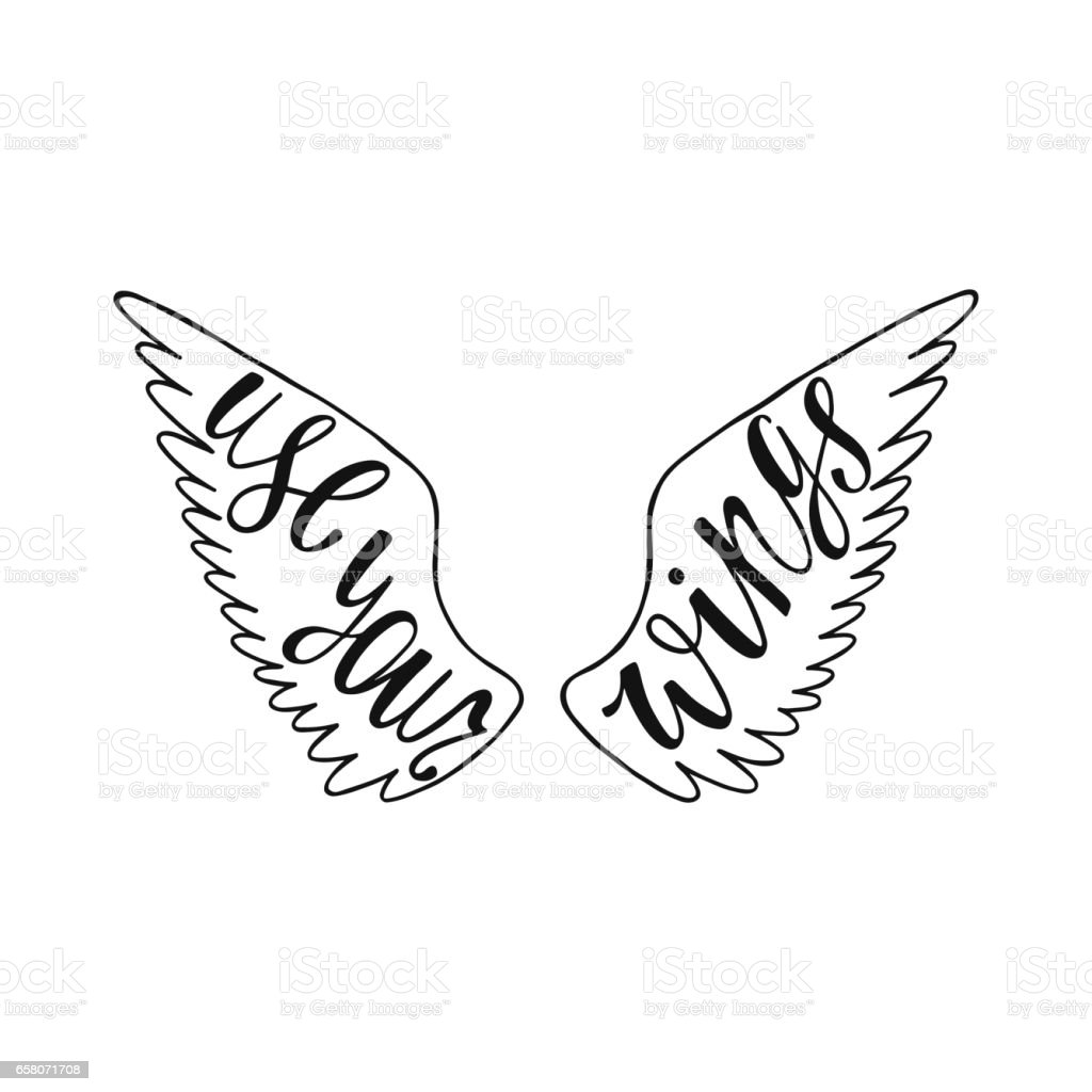 Use your wings. Inspirational quote royalty-free use your wings inspirational quote stock vector art & more images of angel
