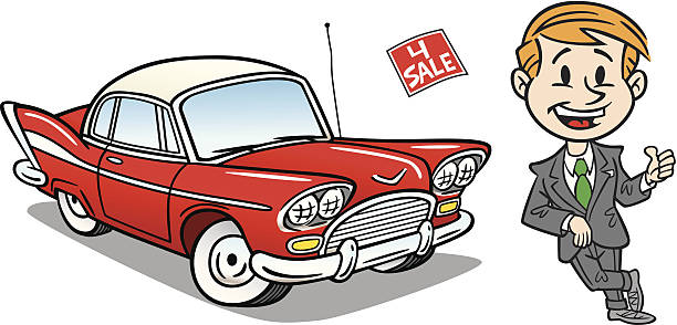 Best Funny Used Car Salesman Illustrations, Royalty-Free ...