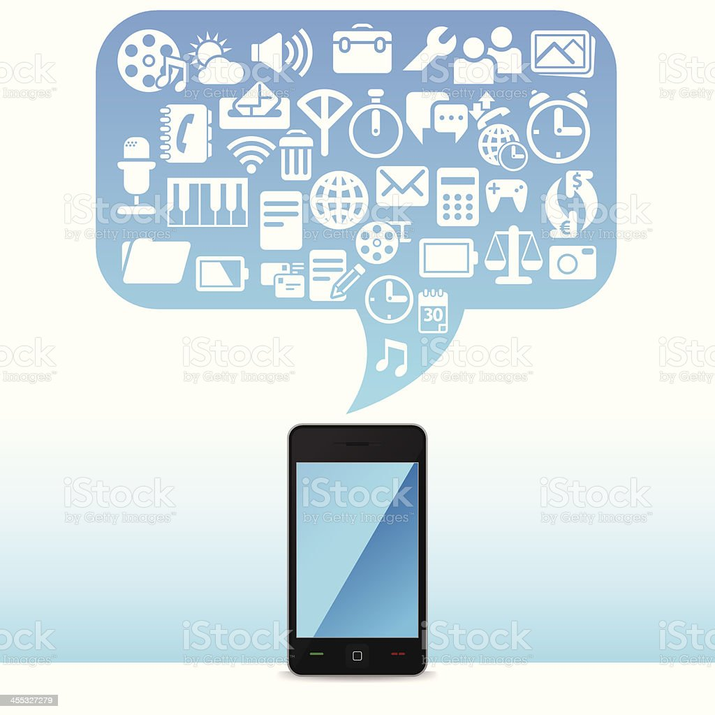 Useful Cell Phone royalty-free stock vector art