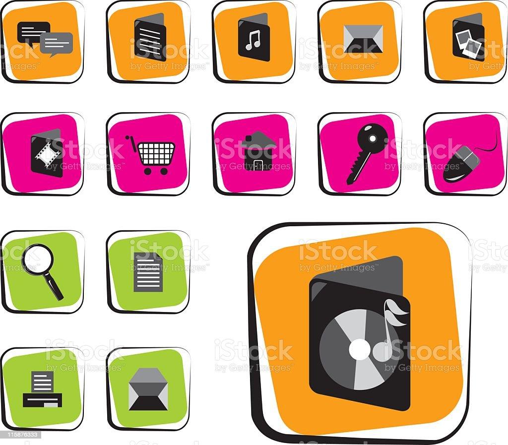 Useful Icon Set royalty-free stock vector art