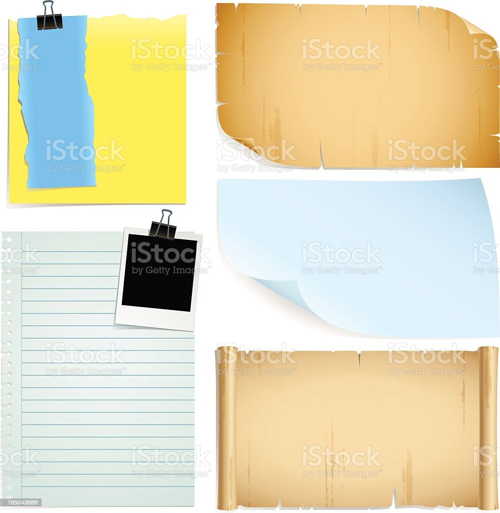useful papers royalty-free stock vector art