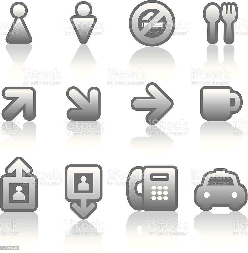 Useful Vector Icons Set royalty-free stock vector art