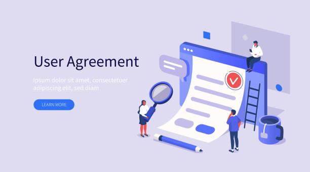 Benutzervereinbarung – Vektorgrafik