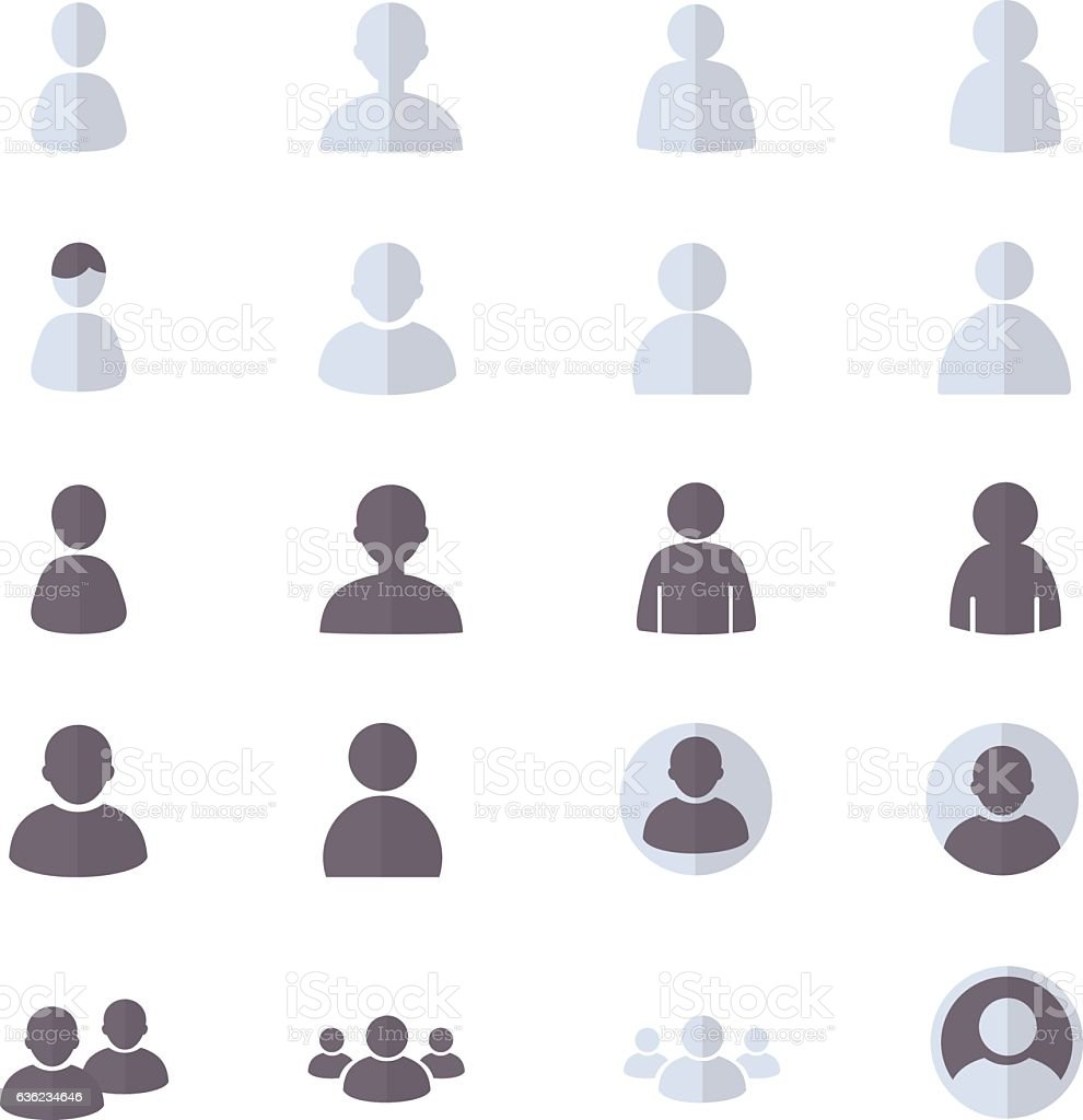 User and People Set Of Abstract, Account Icon vector art illustration
