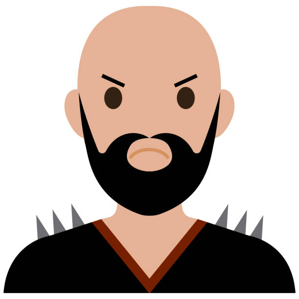 User Avatar-Biker. A bearded biker in a cool t-shirt. A bearded biker in a cool t-shirt. infamous stock illustrations