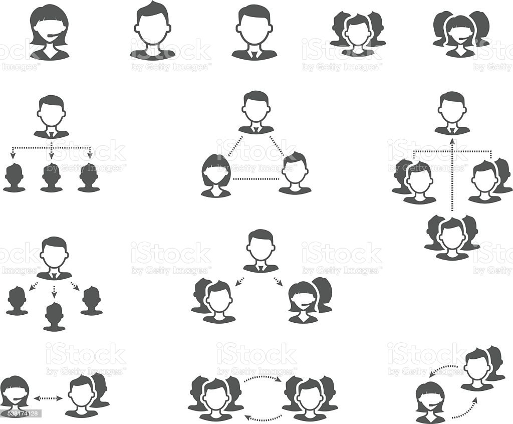User collaboration diagram flat vector icons stock vector art user collaboration diagram flat vector icons royalty free stock vector art pooptronica Choice Image