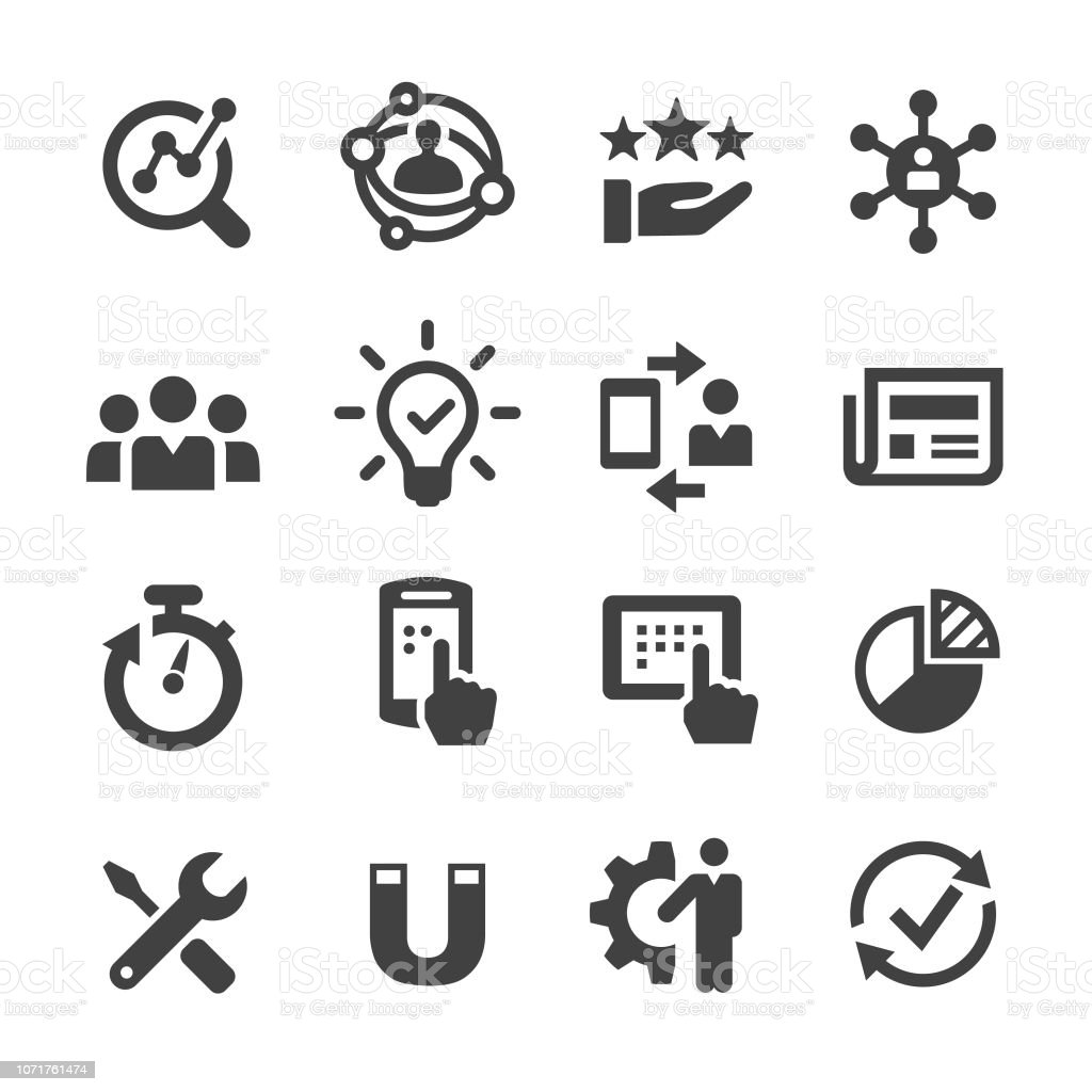 User Experience Icon - Acme Series - Векторная графика Анализировать роялти-фри