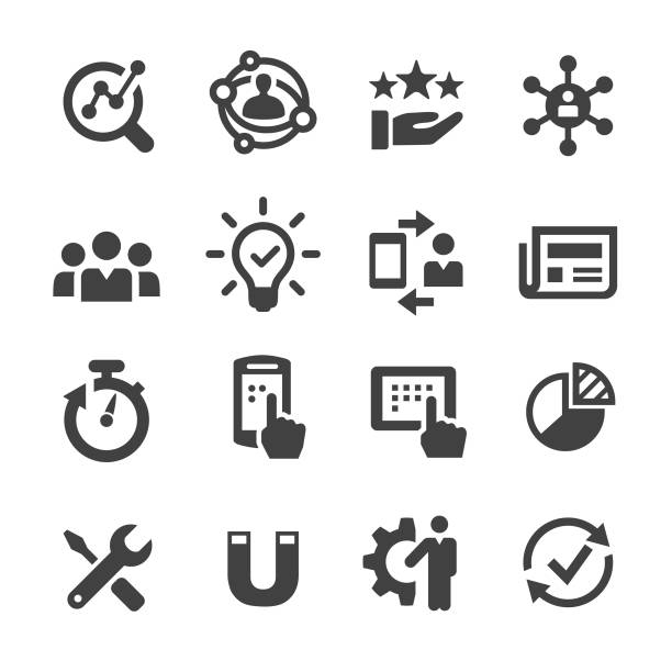 user experience icon - acme series - zawód stock illustrations