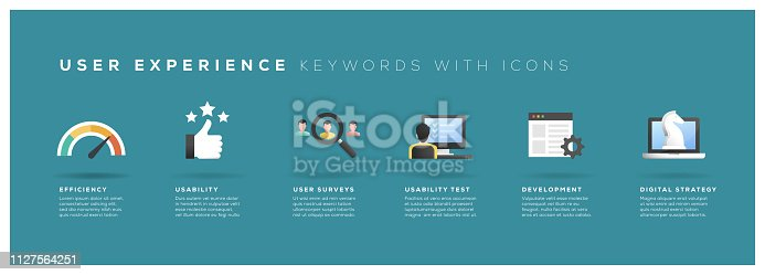 User Experience Keywords with Icons