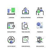 User Experience Line Icon Set