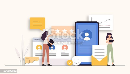 istock User Experience Related Vector Illustration. Flat Modern Design 1200699832