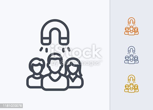 istock User Group & Magnet - Pastel Stroke Icons 1181020076