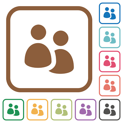 User group simple icons