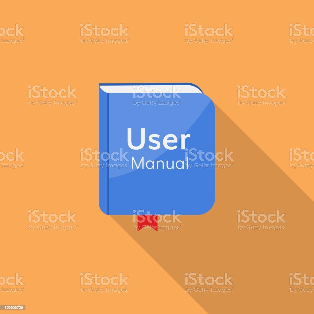 icône vector manuel guide d'utilisateur - Illustration vectorielle