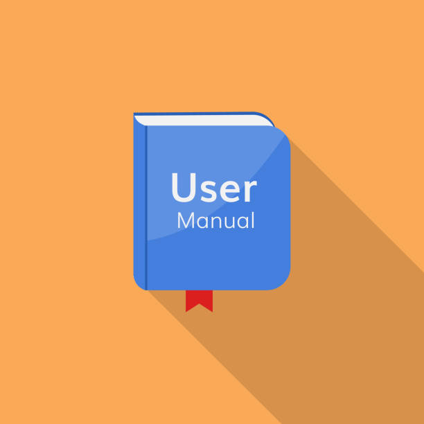 user guide manual vector icon user guide manual vector icon  book document guidebook guide stock illustrations
