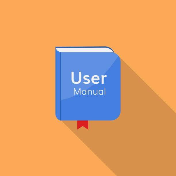 illustrazioni stock, clip art, cartoni animati e icone di tendenza di user guide manual vector icon - guida turistica professione