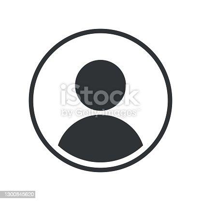 istock User Icon Flat Isolated on White Background. User Symbol. Vector Illustration 1300845620