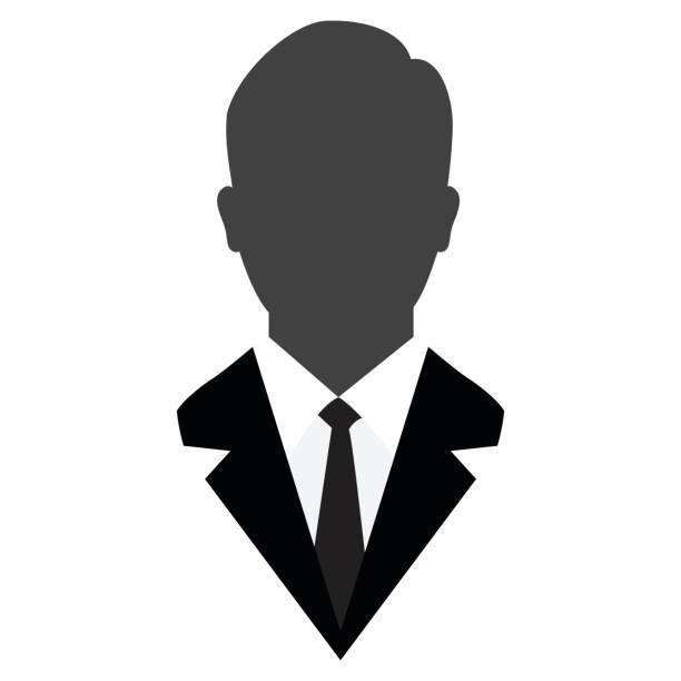 Benutzersymbol, männlichen Avatar im Business Anzug-Vektor Iconic – Vektorgrafik
