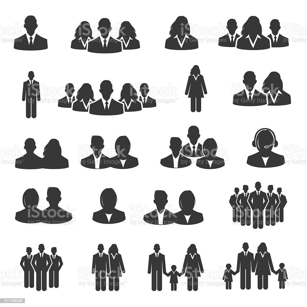 User icon set - Illustration vector art illustration