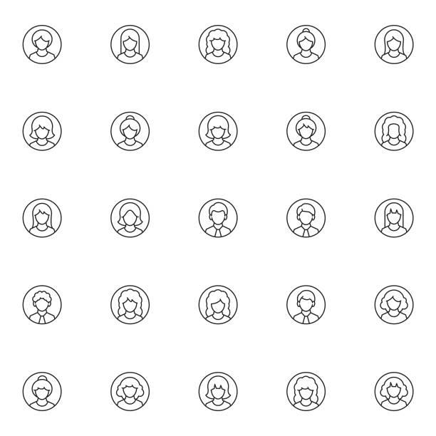 ilustrações, clipart, desenhos animados e ícones de jogo do ícone do usuário - avatar